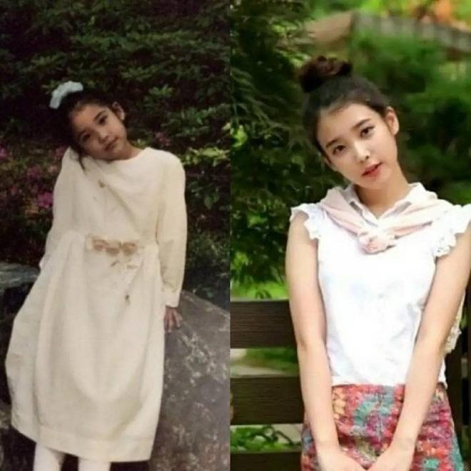 IU từ bé cho đến lớn chẳng hề thay đổi về kiểu tóc, style vẫn đáng yêu trẻ trung như vậy